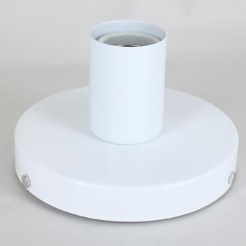 1 Light Flush Surface Mount Fixture Powder Coat White