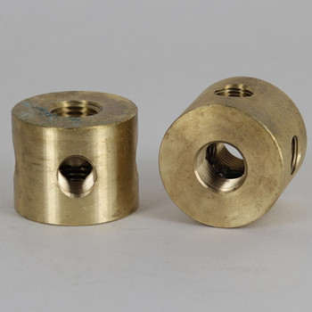 1/8ips Female Threaded 4 Side Holes x 1/4ips Female Top x 1/4ips Female Straight disc Armback. 1-1/4in. O.D. x 1in. Tall