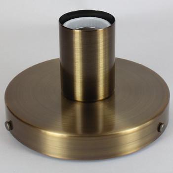 1 Light Flush Surface Mount Fixture - Antique Brass