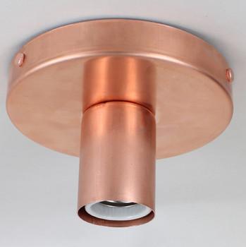 1 Light Flush Surface Mount Raw Copper Fixture