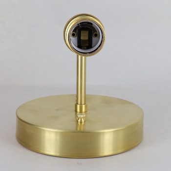 Wall Sconce with Keyless UNO Threaded Lamp Socket - Unfinished Brass