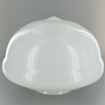10in. Diameter Opal Glass Acorn School House Shade with 4in. Fitter