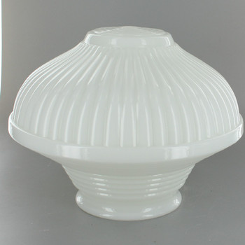 8-1/4in. Diameter Opal Glass Deco Style Pendant Shade with 4in. Fitter