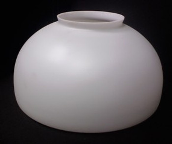 Sandblasted Opal Dome Glass Shade with 6in. Neck