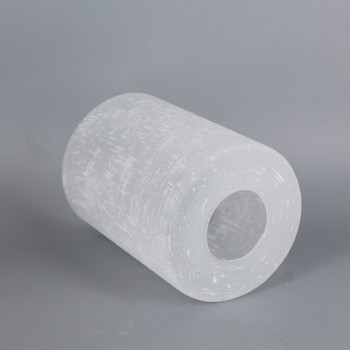 White Linen Cylinder Glass Shade