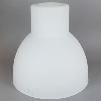 8-1/4in Diameter Opal Matt Finish Glass Warehouse Style Shade with 1-5/8in Hole