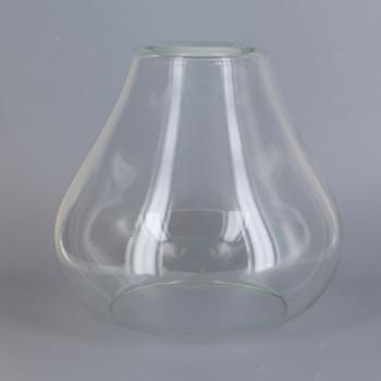 Clear Open Tear Drop Glass Shade