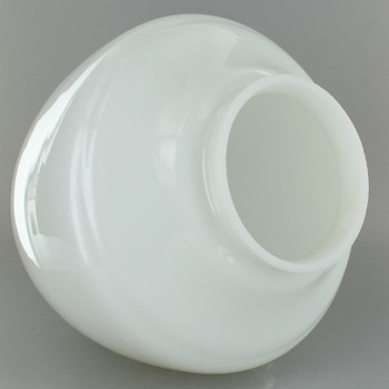 White Plain Acorn Glass Shade with 4in. Neck
