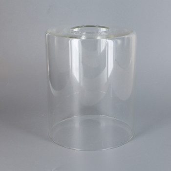 4.33in Diameter X 5in Height Clear Cylinder Shade with 1-5/8in Hole