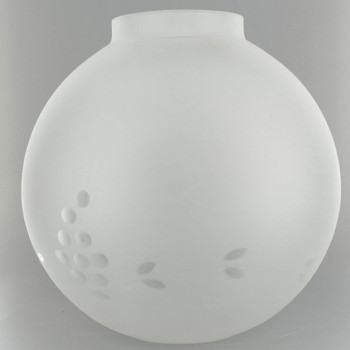 10in. Open Frosted Ball with Cut Grape Design and 4in. Bottom Fitter
