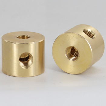 1/8ips Threaded - 1-1/4in Diameter 4-Way Disc Armback - Unfinished Brass