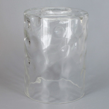 4in Diameter X 5.25in Height Clear Hammered Cylinder Shade with 1-5/8in Hole