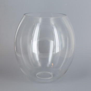 5.91in Diameter X 6.30in Height Clear Glass Barrel Shade with 1-5/8in Hole