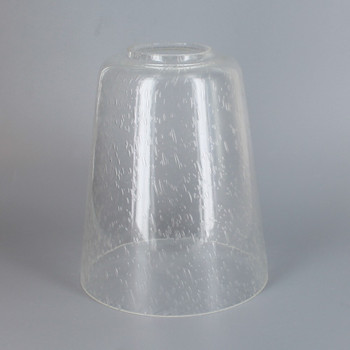 4.72in Diameter X 5.74in Height Clear Seeded Cone Glass Shade with 1-5/8in Hole