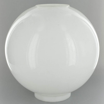 12in. Open Plain Opal Ball with 4in. Bottom Fitter
