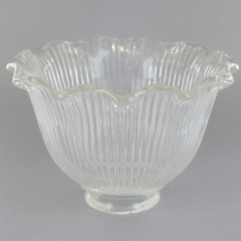 Clear Ruffle Hyalophane Shade with 2-1/4in. Neck
