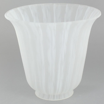 White Frit Bell Glass with 2-1/4in. Neck
