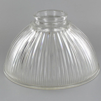 Clear Hyalophane Dome Shade with 2-1/4in. Neck