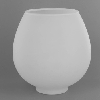Open Frosted White Brandy Shade with 2 in. Slip Neck