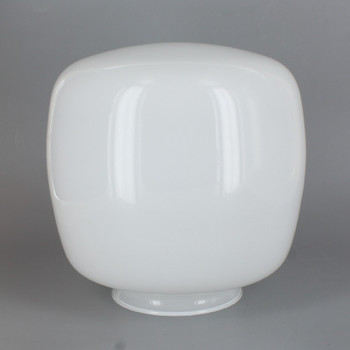 3-1/4in Fitter White Glass Squat Ball Shade