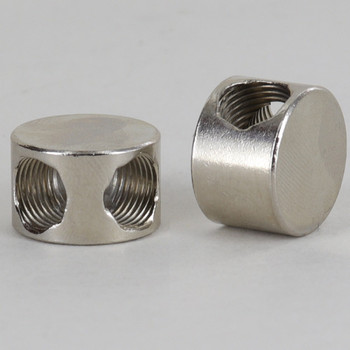 2 - 1/8ips Side Hole Flat Splitter Disc Armback - Nickel Plated