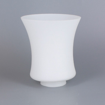 2-1/4in Fitter White Opal Fluted Glass Lamp Shade
