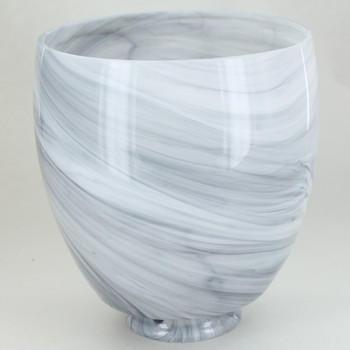 Charcoal Swirl Shade with 2-1/4in Necked Fitter.