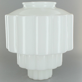 Opal Wedding Cake Glass Shade with 4in. Neck