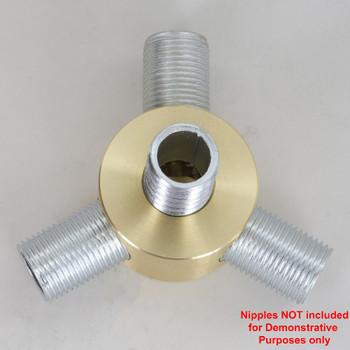 3 - 3/8ips Side holes X 3/8ips Bottom Hole Y  Disc Armback - Unfinished Brass