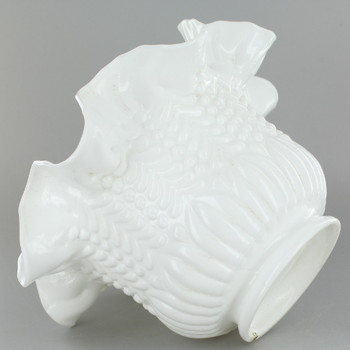 White Ruffle Shade with 3in. Neck