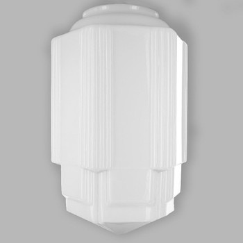 Opal Long Decorative Glass Shade with 6in. Neck