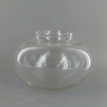 Clear Hand Blown Bubble Shade with 3-1/4in. Neck