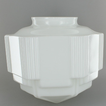 Opal Short Decorative Glass Shade with 4in. Neck