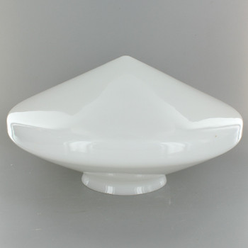 9-3/4in. Opal Flying Saucer Pointed Glass Shade with 4in. Neck