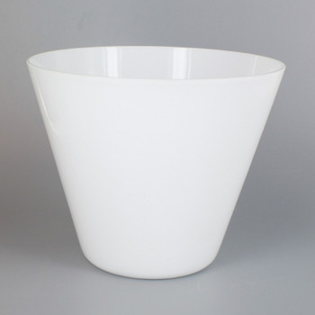 WHITE GLASS CONE SHADE WITH 1-5/8in HOLE FOR USE WITH CUC100 SERIES CUP