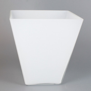 WHITE SQUARE GLASS CONE SHADE WITH 1-5/8in HOLE FOR USE WITH CUSQ100 CUP