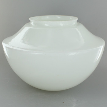 8-1/2in. Opal Glass Smooth Half Ball Style Shade with 4in. Neck