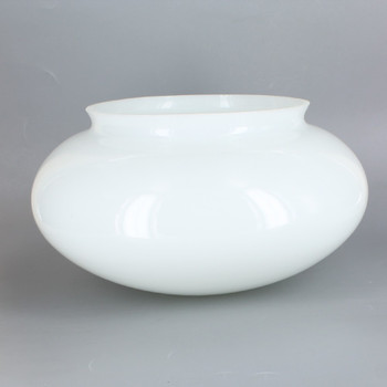 10in Diameter Opal White Mushroom Glass Shade with 6in Lip Necked Fitter