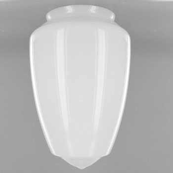 12in. Milk White Gothic Glass with 6in. Neck