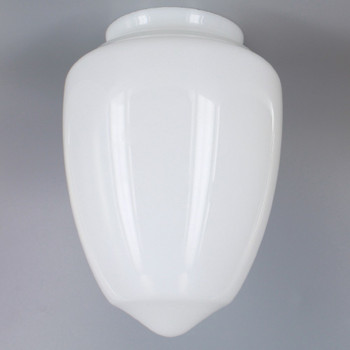 8in. Milk White Gothic Glass with 4in. Neck