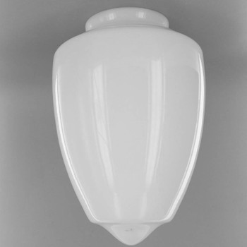 10in. Milk White Gothic Glass with 4in. Neck