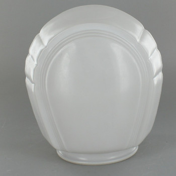 White Bathroom Shade with Clear Bottom and 3-1/4in. Neck