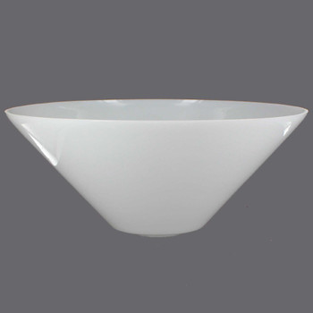 Opal White Torchiere Glass Shade with 1-5/8in. Hole