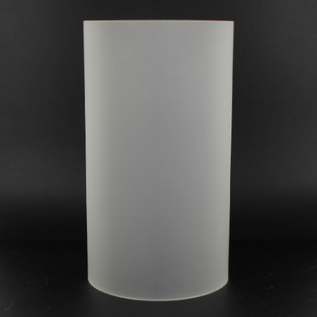7in Tall X 4in Diameter Clear Glass Acid Frosted Cylinder