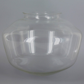 8in. Clear School House Glass with 4in. Neck