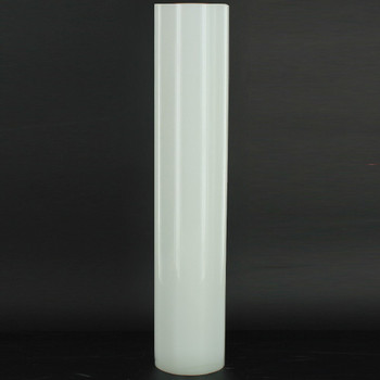 10in Tall X 2in Diameter White Glass Cylinder