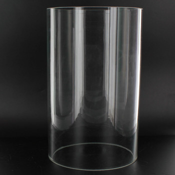 8in Tall X 5in Diameter Clear Glass Cylinder