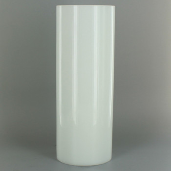 8in Tall X 3in Diameter White Glass Cylinder
