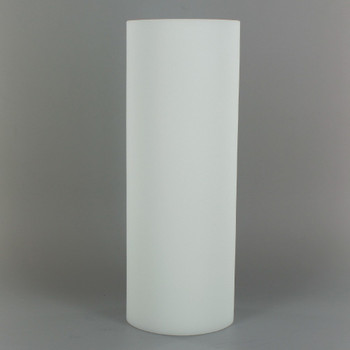 8in Tall X 3in Diameter Acid Frosted Glass Cylinder