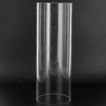8in Tall X 3in Diameter. Clear Glass Cylinder